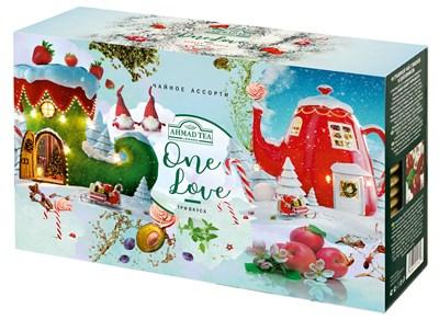 """Эксклюзивный набор """"One Love"""" чайное ассорти """"Ahmad Tea"""", 3 пачки ароматизированного чая, в пакетиках в конвертах из фольги, 3х25х1,5г - фото 4507"""