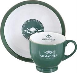 """Пара чайная зеленая с логотипом """"Ahmad Tea"""" - фото 5792"""