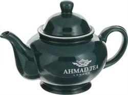 """Чайник зеленый с логотипом """"Ahmad Tea"""" - фото 5794"""