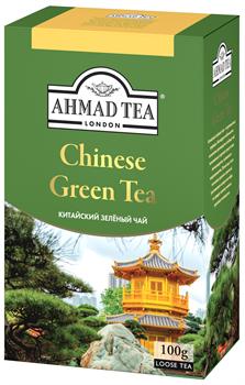 """Чай """"Ahmad Tea"""" «Китайский», зелёный, листовой, 100г - фото 5890"""