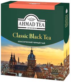 """Чай """"Ahmad Tea"""" «Классический», чёрный, в пакетиках  с ярлычками, 100х2г - фото 5892"""