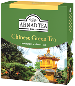 "Чай ""Ahmad Tea"" «Китайский», зелёный, листовой, 100х1,8г - фото 5893"