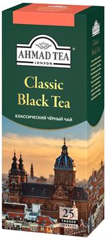"""Чай """"Ahmad Tea"""" «Классический», чёрный, в пакетиках с ярлычками, 25х2г - фото 5894"""