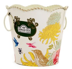 "Металлическое кашпо с логотипом ""Ahmad Tea"" - фото 5908"