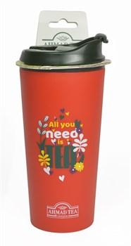 """Термокружка """"Ahmad Tea"""", 350 мл, цвет красный - фото 5962"""