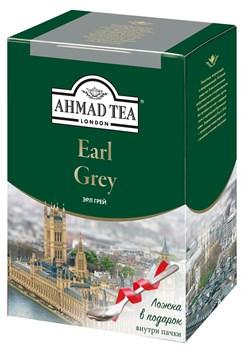 """Чай """"Ahmad Tea"""" Эрл Грей, чёрный, листовой, 200г + ложка в подарок - фото 6011"""