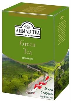 """Чай """"Ahmad Tea"""" Зелёный чай, листовой, 200г + ложка в подарок - фото 6017"""