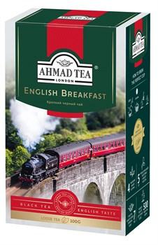"""Чай """"Ahmad Tea"""" Английский завтрак, чёрный, листовой, 100г - фото 6272"""