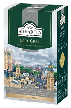 "Чай ""Ahmad Tea"" Эрл Грей, чёрный, листовой, 100г - фото 6274"