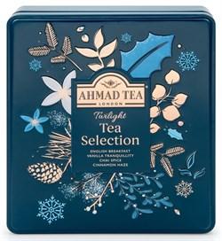 "Чай ""Ahmad Tea"", Набор ""Таинственные Сумерки"", пакетики в конвертах, в металлической банке, 4 вкуса, 32 пакетика по 2 гр - фото 6354"