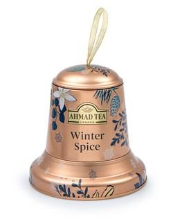 """Чай """"Ahmad Tea"""", """"Колокольчик """"Зимние специи"""""""", чёрный, листовой, в металлической банке, 75гр - фото 6393"""