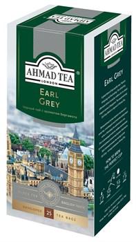"""Чай """"Ahmad Tea"""" Эрл Грей, чёрный, в пакетиках с ярлычками в конвертах из фольги, 25х2г - фото 6411"""