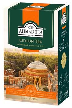 """Чай """"Ahmad Tea"""" Цейлонский OP, чёрный, листовой, 100г - фото 6412"""