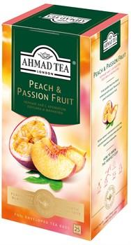 """Чай """"Ahmad Tea"""", Персик-Маракуйя, чёрный, в пакетиках с ярлычками в конвертах, 25х1,5гр - фото 6434"""