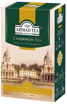 """Чай """"Ahmad Tea"""", Кардамон, чёрный, листовой, 100г - фото 6440"""