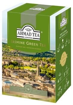 """Чай """"Ahmad Tea"""" Зелёный чай с жасмином, листовой, 200г - фото 6443"""