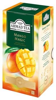 """Чай """"Ahmad Tea"""", Магия Манго, чёрный, в пакетиках с ярлычками в конвертах, 25х1,5гр - фото 6445"""
