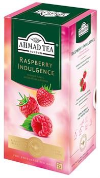 """Чай """"Ahmad Tea"""", Малиновое лакомство, чёрный, в пакетиках с ярлычками в конвертах, 25х1,5гр - фото 6447"""