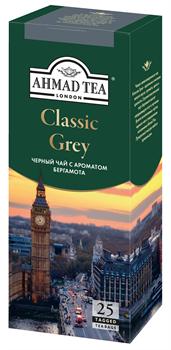 """Чай """"Ahmad Tea"""", Классик Грей, чёрный, с ароматом бергамота, в пакетиках  с ярлычками, 25х1,9г - фото 6456"""