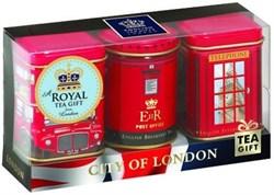 """Чай """"Ahmad Tea"""", Набор """"Лондон"""", листовой чай, 3 вкуса в сувенирных металлических банках, 3х25г - фото 6462"""