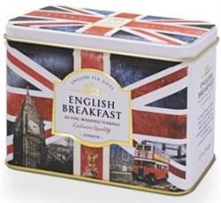 """Чай """"Ahmad Tea"""", """"Легенда Британии"""", Английский завтрак, пакетики в конвертах, в металлической  коробке, 20х2г - фото 6472"""