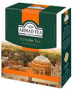 """Чай """"Ahmad Tea"""" Цейлонский чай, чёрный, в пакетиках с ярлычками в конвертах из фольги,100х2г - фото 6589"""
