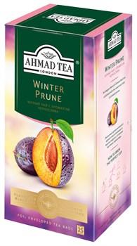 """Чай """"Ahmad Tea"""" Winter Prune Зимний Чернослив, чёрный, в пакетиках с ярлычками в конвертах из фольги 25х1,5г - фото 6602"""