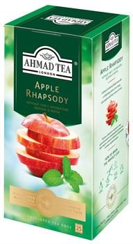 """Чай """"Ahmad Tea"""" Эппл Рапсоди, с ароматом яблока и мяты, чёрный, в пакетиках в конвертах из фольги, 25х1,5г - фото 6603"""