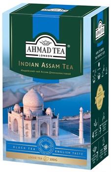 """Чай """"Ahmad Tea"""" Индийский чай Ассам, чёрный, длиннолистовой, 100г - фото 6608"""
