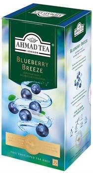 """Чай """"Ahmad Tea"""" Блуберри Бриз с ароматом голубики, зелёный, в пакетиках в конвертах из фольги, 25х1,8г - фото 6650"""