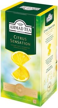 """Чай """"Ahmad Tea"""" Цитрус Сенсейшн, с ароматом лимона и лайма, чёрный, в пакетиках в конвертах из фольги, 25х1,8г - фото 6651"""