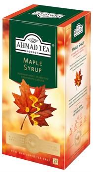 """Чай """"Ahmad Tea"""" Кленовый Сироп, с ароматом кленового сиропа, зелёный, в пакетиках в конвертах из фольги, 25х1,5г - фото 6652"""
