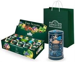 """Подарочный набор листового и пакетированного чая от """"Ahmad Tea"""" """"Вечерний звон"""" - фото 6691"""
