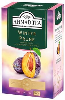 """Чай """"Ahmad Tea"""" Winter Prune Зимний Чернослив, чёрный, листовой, 100г - фото 6693"""