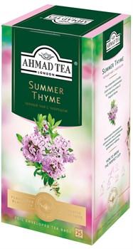 """Чай """"Ahmad Tea"""" Summer Thyme Летний Чабрец, чёрный, с чабрецом, в пакетиках с ярлычками в конвертах из фольги 25х1,5г - фото 6694"""