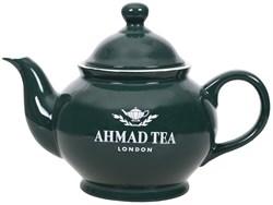 """Чайник заварочный """"Ahmad Tea"""" с фильтром, зелёный, керамический, 850 мл - фото 6766"""