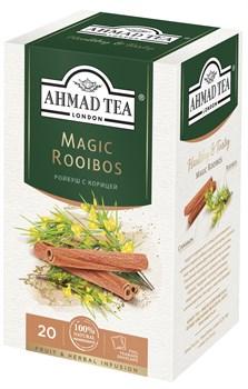 """Травяной чай """"Ahmad Tea"""" с корицей """"Мэджик ройбуш"""", в пакетиках в конвертах из фольги 20х1,5г - фото 6770"""