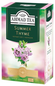 """Чай """"Ahmad Tea"""" Summer Thyme Летний Чабрец, чёрный, листовой, 100г - фото 6771"""