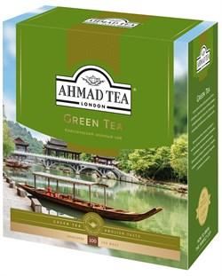 """Чай """"Ahmad Tea"""" Зелёный чай, в пакетиках с ярлычками в конвертах из фольги,100х2г - фото 6905"""