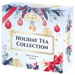 """Чайное Ассорти Ahmad Tea """"Holiday Tea Collection"""", пакетики в индивидуальных конвертах, 9 вкусов, (45 пакетиков) - фото 6998"""