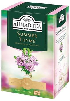 "Чай ""Ahmad Tea"" Summer Thyme Летний Чабрец, с чабрецом, чёрный, листовой, 200г - фото 7003"