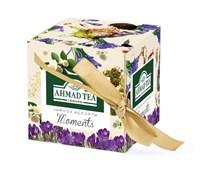 """Набор чайный «""""Ahmad Tea"""" Моментс», Эрл Грей и Зелёный с жасмином, листовой чай, в картонной коробке в весеннем дизайне, 2х30г"""
