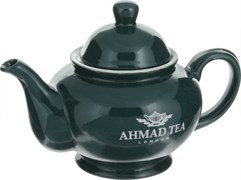 """Чайник зеленый с логотипом """"Ahmad Tea"""""""