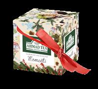 """Набор чайный """"Ahmad Tea"""" «Моментс», Эрл Грей и Зелёный чай с жасмином, листовой чай, картонная коробка в зимнем дизайне, 2х30г"""