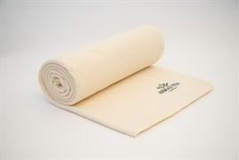 """Плед с логотипом """"Ahmad Tea"""", молочный, флисовый,  размер 1400x1600 мм"""