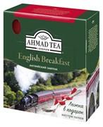 """Чай """"Ahmad Tea"""" Английский завтрак, чёрный, в пакетиках с ярлычками в конвертах из фольги,100х2г + ложка в подарок"""