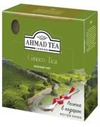 """Чай """"Ahmad Tea"""" Зелёный чай, в пакетиках с ярлычками в конвертах из фольги,100х2г + ложка в подарок"""