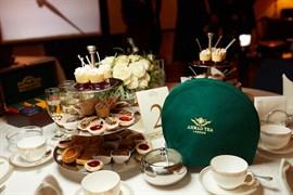 Зелёный чехол для чайника Ahmad Tea