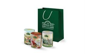 """Коллекция подарочного чая """"Ahmad Tea"""" """"Fine Tea Collection"""", 3 вкуса чёрного листового чая, 3х100г"""