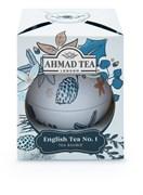 "Чай ""Ahmad Tea"", Чай Английский №1, ""Снежные Сумерки"", ""Новогодний шар"", 30г"